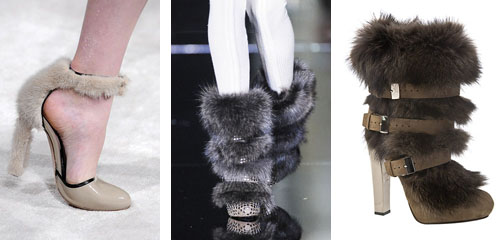 fur shoes in fashion