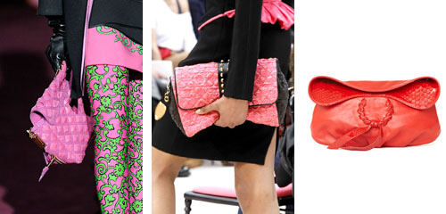 pink clutches are instyle